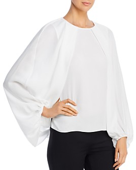 Kobi Halperin - Isa Cape-Sleeve Silk Blouse