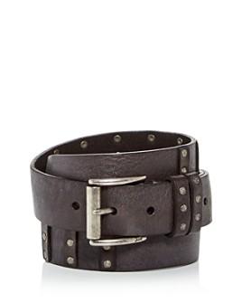 John Varvatos Star USA - Men's Studded Leather Belt