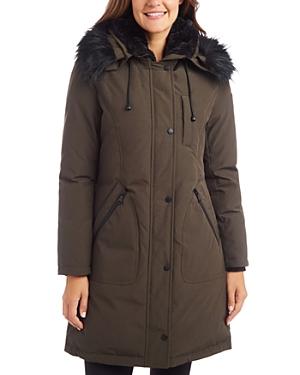 Vince Camuto Faux Fur Trim Puffer Coat-Women