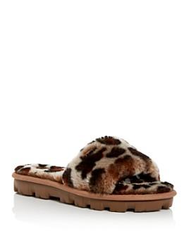 UGG® - Women's Cozette Fur Slide Sandals