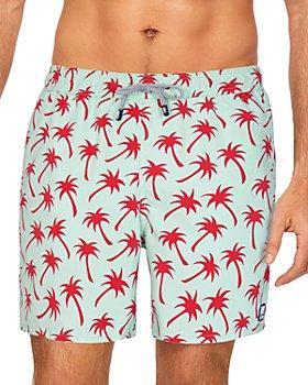TOM & TEDDY - Palm Swim Trunks