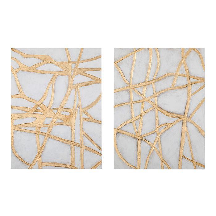 Bassett Mirror - Gold Tracks Wall Art, Set of 2