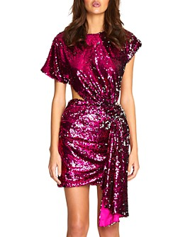 Alice McCall - Electric Orchid Sequined Cutout Mini Dress