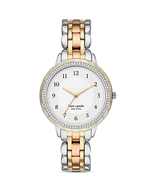 kate spade new york Morningside Tri-Tone Link Bracelet Watch, 38mm