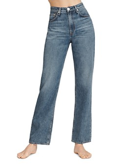 rag & bone - Ruth Super High-Rise Straight-Leg Jeans in Baywater