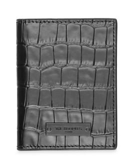 The Kooples - Croc-Embossed Leather Bi-Fold Card Case