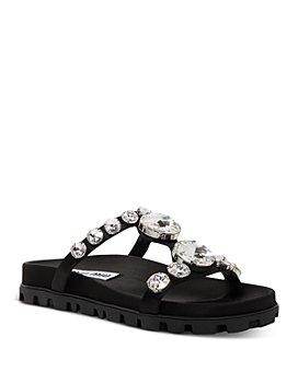 Miu Miu - Women's Crystal-Embellished Sandals