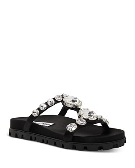 Miu Miu - Women's Crystal-Embellished Sandals