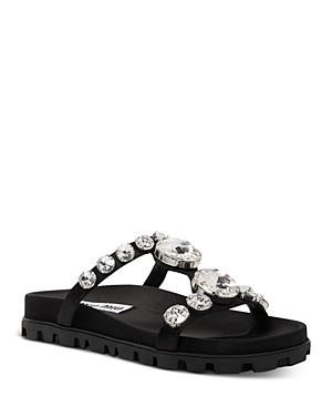 Miu Miu Women's Crystal Embellished Sandals