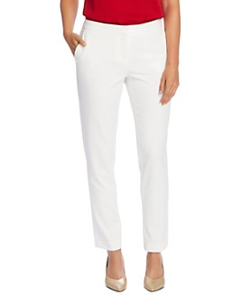 VINCE CAMUTO - Textured Twill Slim-Leg Pants