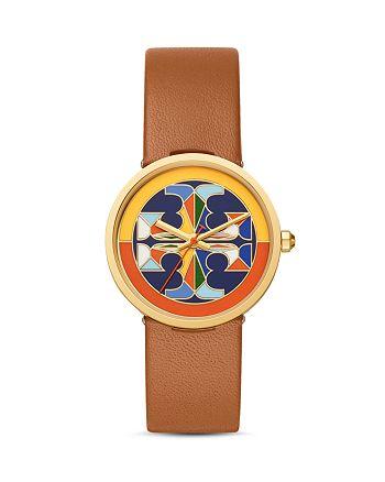 Tory Burch - Reva Leather Strap Watch, 36mm