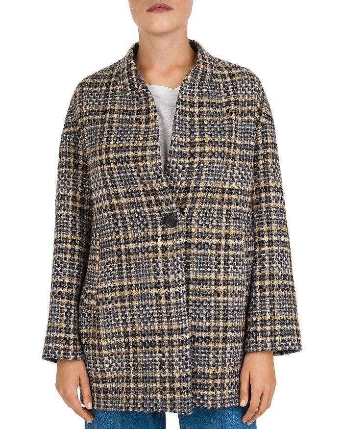 Gerard Darel - Venus Plaid Single-Button Coat