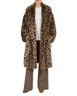 Gerard Darel - Arianna Leopard Faux-Fur Coat
