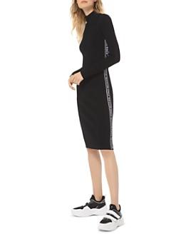 MICHAEL Michael Kors - Ribbed Logo-Detail Dress