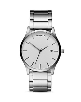 MVMT - Classic White Dial Link Bracelet Watch, 45mm