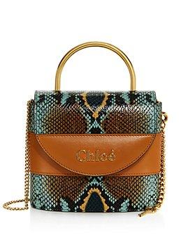 Chloé - Aby Lock Python-Print Crossbody