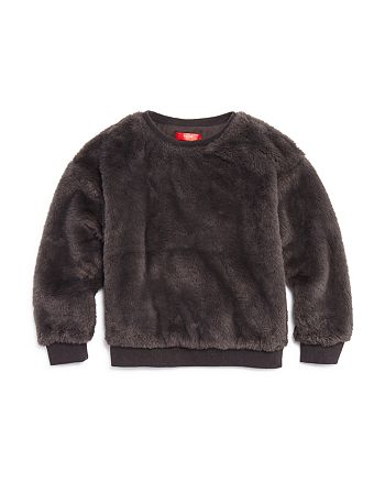 AQUA - Girls' Faux Fur Sweatshirt, Big Kid - 100% Exclusive