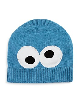 Isaac Mizrahi Loves Sesame Street - Unisex Knit Cookie Monster Hat - 100% Exclusive
