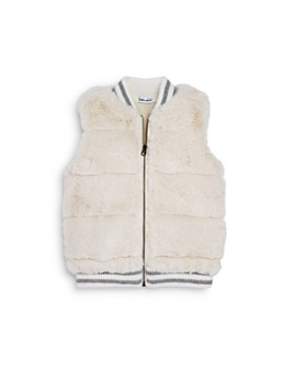 Splendid - Girls' Quilted Faux Fur Vest - Big Kid
