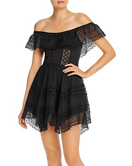 Charo Ruiz Ibiza - Vaiana Off-the-Shoulder Crochet Detail Dress