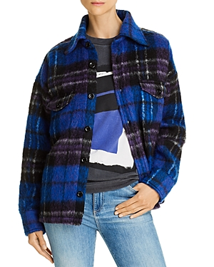 Anine Bing Jackets SAMONE PLAID JACKET