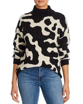 Vero Moda - Lyra Printed Turtleneck Sweater