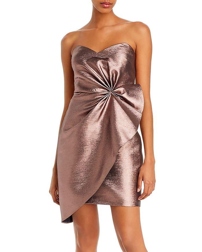 Aidan by Aidan Mattox - Strapless Metallic Mini Dress