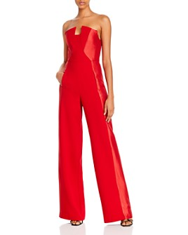 Black Halo - Lena Strapless Jumpsuit