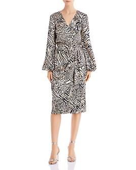 Jay Godfrey - Sirio Animal-Printed Faux-Wrap Dress