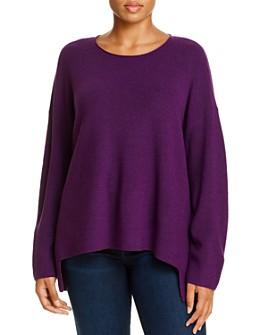 Eileen Fisher Plus - Merino Wool High/Low Sweater