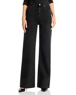 Levi's - Ribcage Wide-Leg Jeans in Black Book