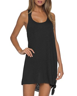 BECCA® by Rebecca Virtue - Breezy Basics Twist Back Dress Swim Cover-Up