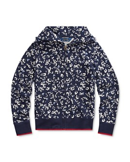 Ralph Lauren - Girls' Floral Print Terry Hoodie - Big Kid
