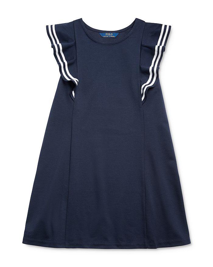 Ralph Lauren - Girls' Ruffled Ponte Dress - Big Kid