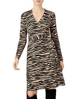 HOBBS LONDON - Zadie Zebra-Stripe Wrap Dress - 100% Exclusive