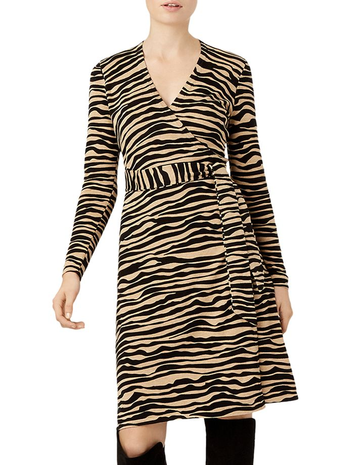 HOBBS LONDON - Zadie Zebra-Stripe Wrap Dress - 100% Exclusive