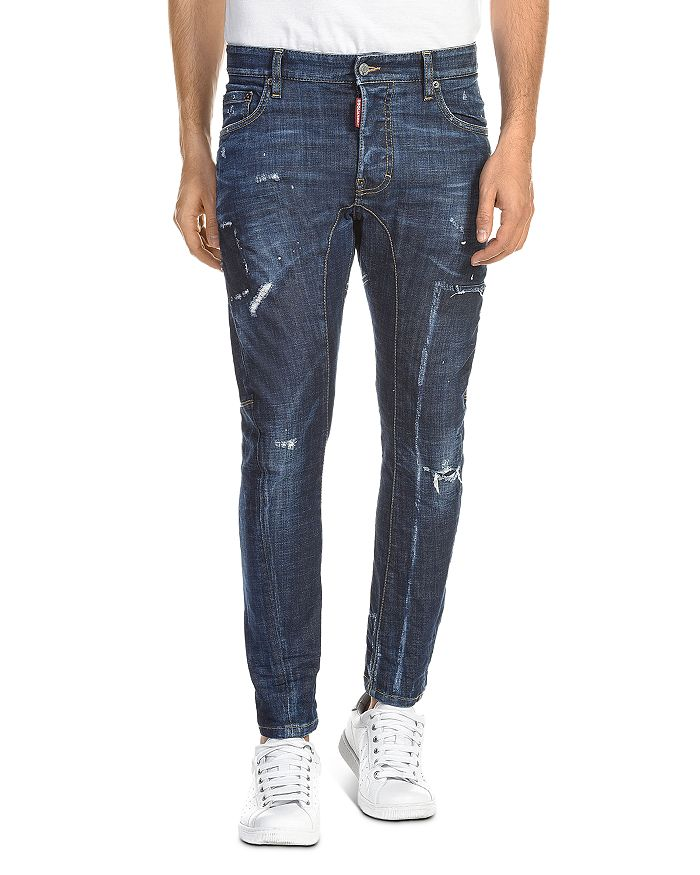 DSQUARED2 - Tidy Biker Skinny Fit Jeans in Blue