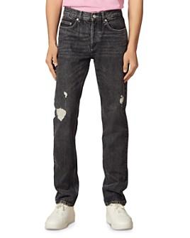 Sandro - Slim Fit Destroy Jeans in Black