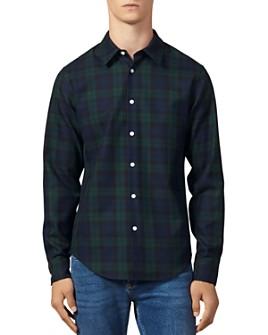 Sandro - Blackwatch Tartan Slim Fit Button-Down Shirt