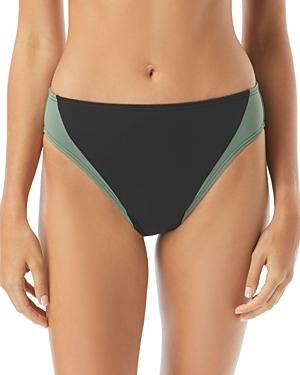 Vince Camuto Color-Blocked High-Leg Bikini Bottom