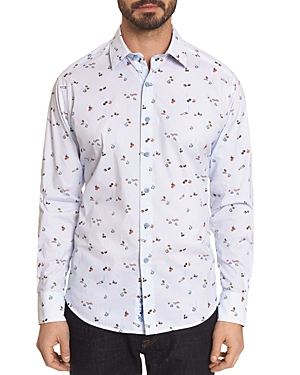 Robert Graham Omakase Sushi & Fish Print Classic Fit Button-Down Shirt