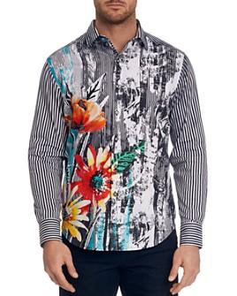 Robert Graham - Field of Gold Mixed-Print Classic Fit Button-Down Shirt