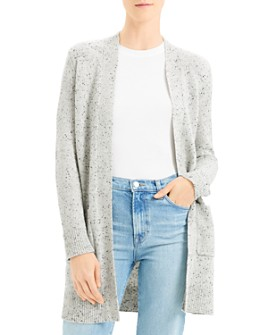 Theory - Cashmere Donegal Knit Open Front Cardigan