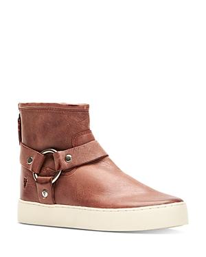 Frye Women's Lena Harness Leather Sneaker Booties