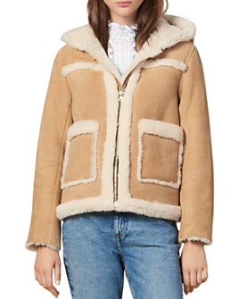 Sandro - Sheer Real Lamb Shearling Coat