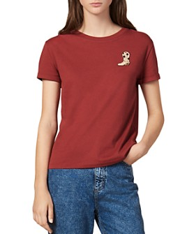 Sandro - Boonel Embroidered Tee