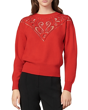 Sandro Sweaters ARDOR EMBROIDERED SWEATER