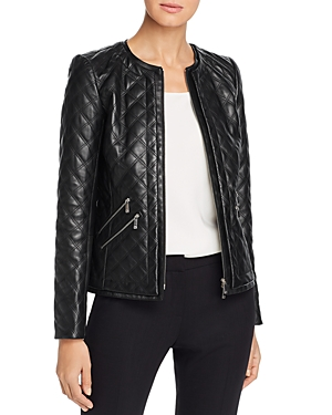 Lafayette 148 Jackets TANNER QUILTED LEATHER JACKET