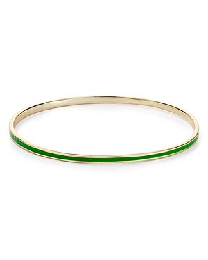 Enamel Bangle Bracelet in 18K Gold-Plated Sterling Silver