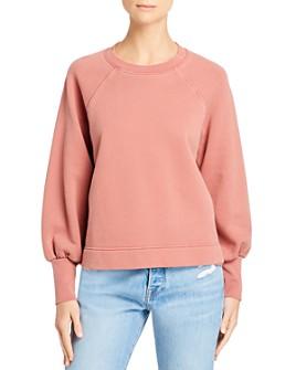 FRAME - Easy Distressed-Trim Sweatshirt - 100% Exclusive